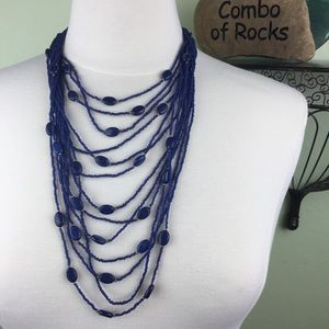 Coldwater Creek Seed Bead Multi Strand Necklace